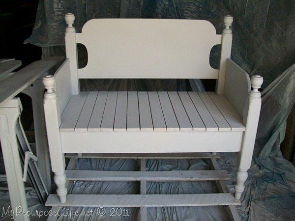 Twin Headboard Bench Tutorial My Repurposed Life 174