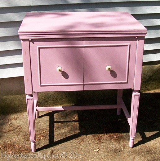 Sewing Cabinet featuring Annie Sloan Chalk Paint - My Repurposed Life®