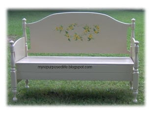 extra large headboard bench