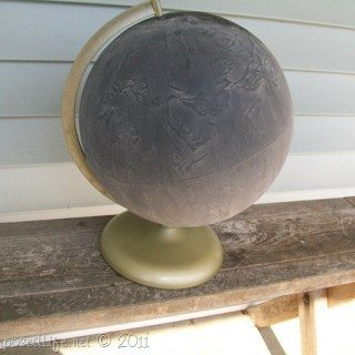 Repurposed Globe (chalkboard)