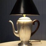 Repurposed Vintage Coffee Pot Lamp