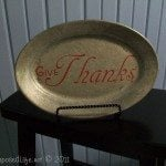 give thanks platter