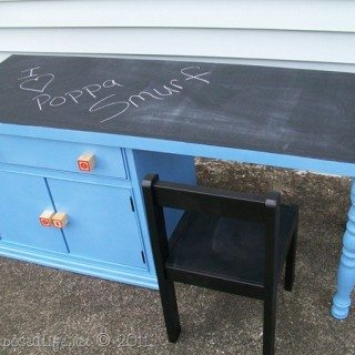 Repurposed Nightstand into Child's Desk