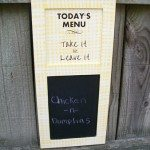 cute menu chalkboard