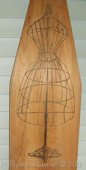 Vintage Ironing Board Art My Repurposed Life