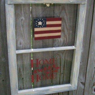 Home Sweet Home (repurposed window)