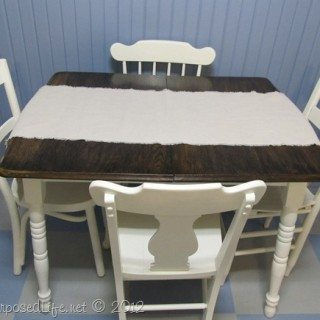 Tickled Pink Kitchen Table Makeover