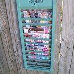 Repurposed Shutter (magazine rack)