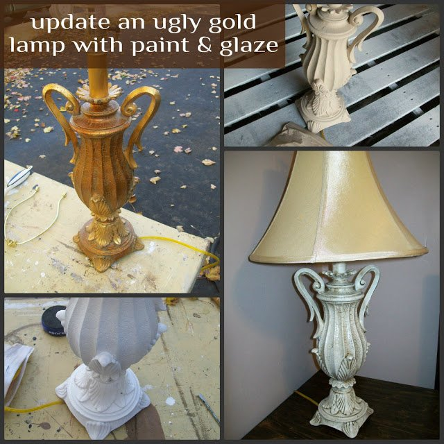 ugly gold lamp