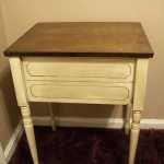 repurposed sewing cabinet (side table)