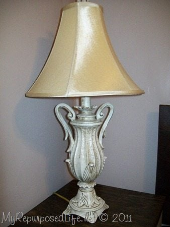 How To Paint A Gold Lamp Base My Repurposed Life