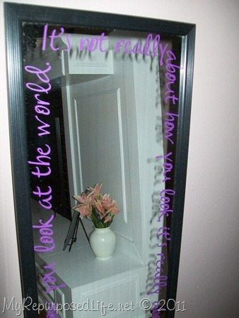 Vinyl Projects Mirror Ideas My Repurposed Life