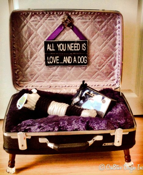 Repurposed Suitcases Make A Great Dog Bed My Repurposed Life Rescue Re Imagine Repeat