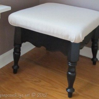 small repurposed table into a stool