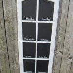 Easy Chalkboards from paned Cupboard doors
