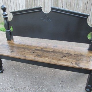Pretty Headboard Bench