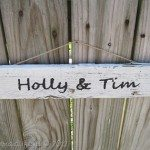 My Repurposed Life--Picket Fence Wedding Sign
