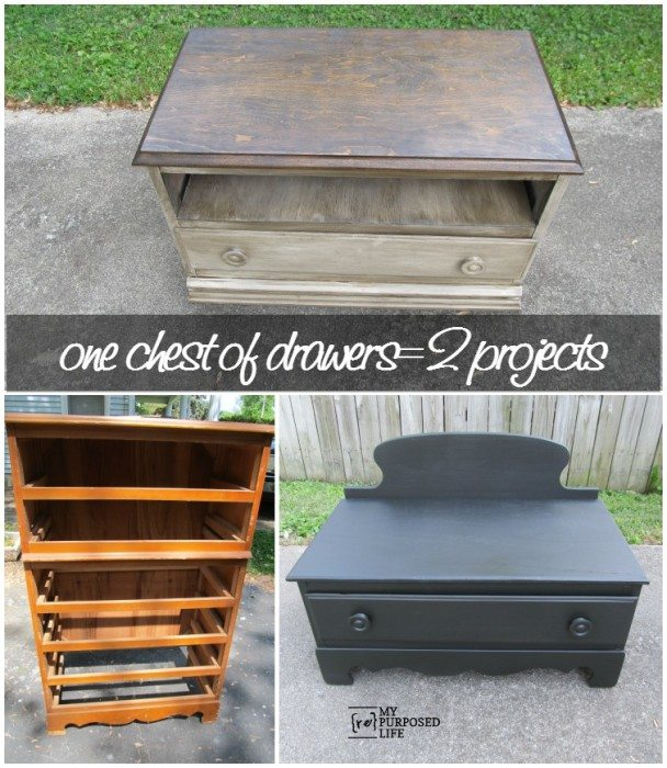 Famous chest of drawers repurposed into an entertainment center LT56