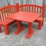 DIY Kids Corner Bench & Table (red)