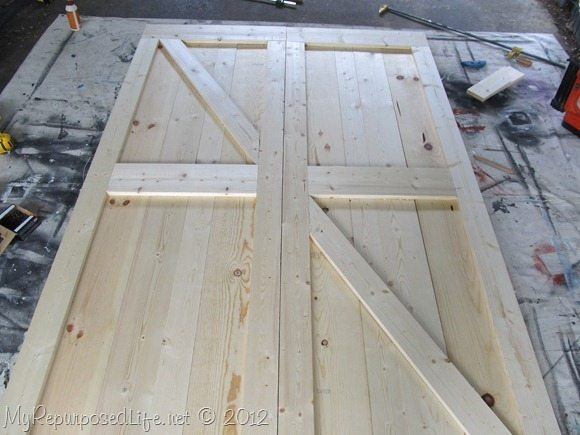 How To Build Diy Barn Doors My Repurposed Life 174