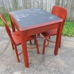 My Repurposed Life--Kids Chalkboard table & chairs