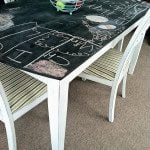 Chase the Star Chalkboard Table