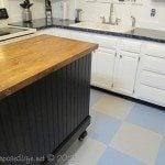 black kitchen island (update)