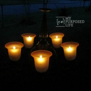 repurposed chandelier candelabra