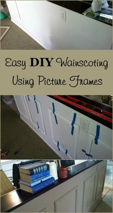 picture frame wainscoting - My Repurposed Life®