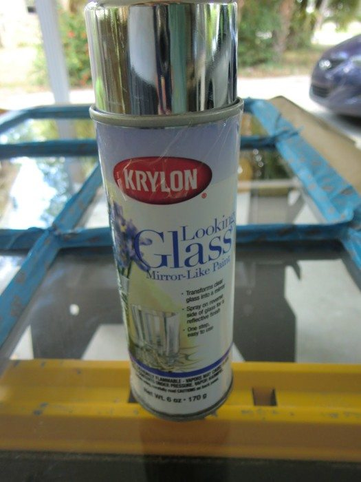 krylon looking glass spray paint creates a reflective surface that. Black Bedroom Furniture Sets. Home Design Ideas