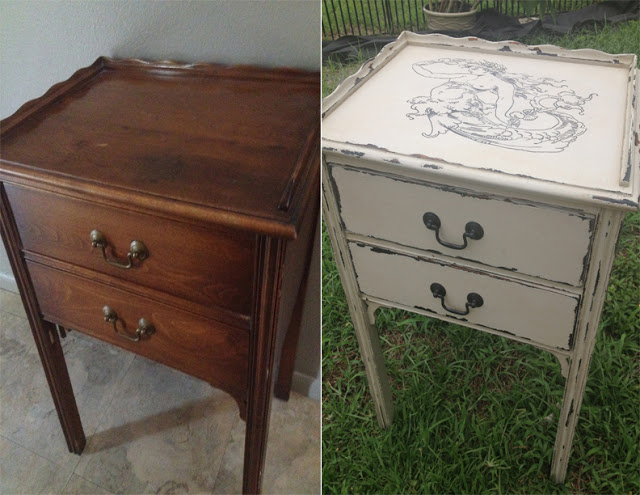 Before & After sewing table