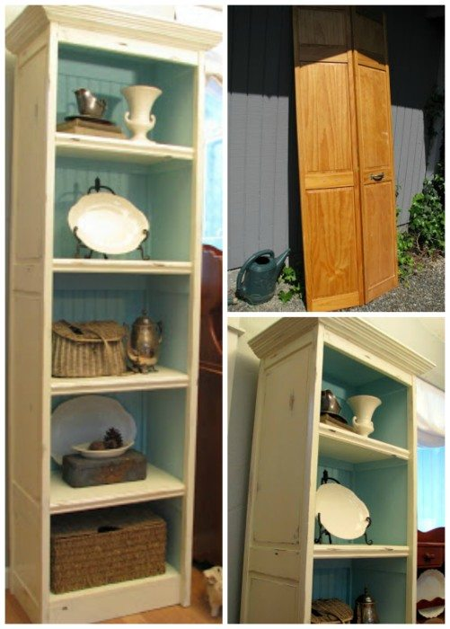 Blue-Roof-Cabin-bi-fold-door-bookcase