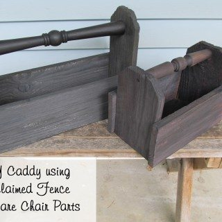 diy wooden caddy