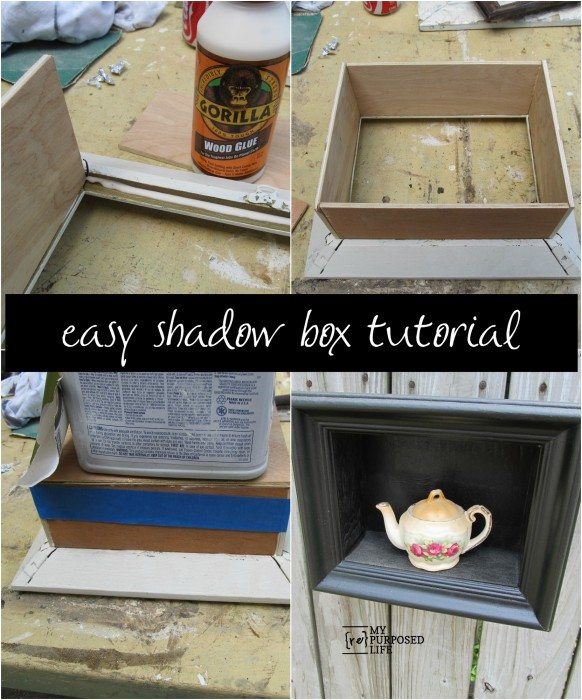 diy shadow box frame - My Repurposed Life®