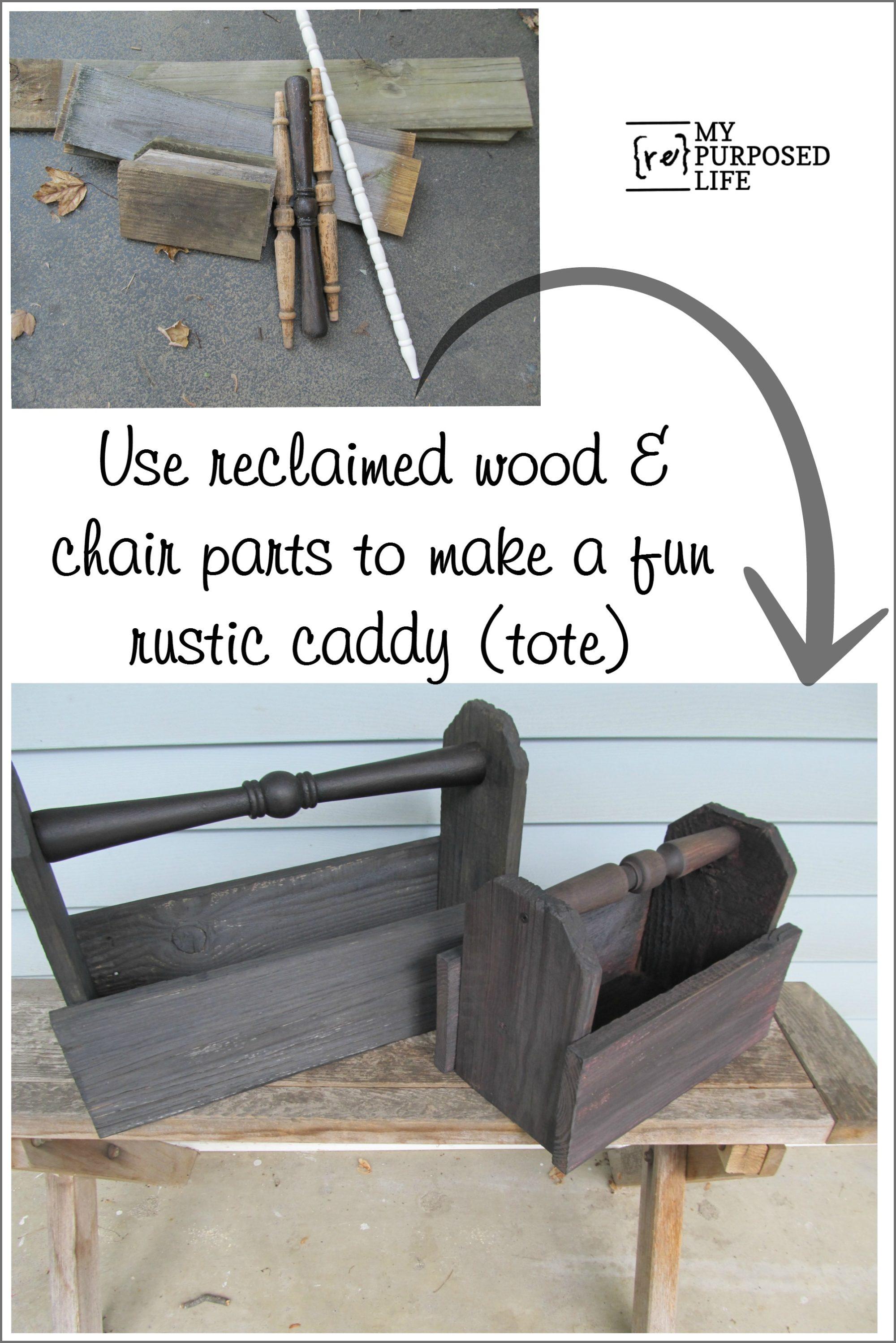 Diy wooden caddy my repurposed life