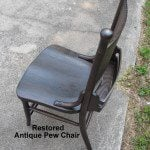 restored antique pew chair