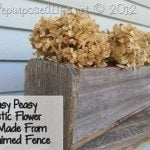 My Repurposed Life- Easy Rustic Flower Box