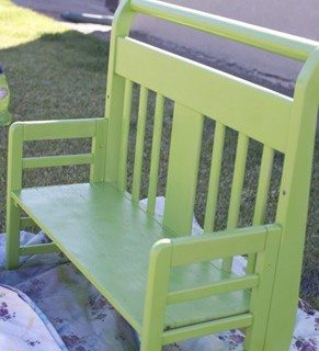 toddler bed bench