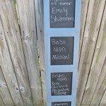 Room Divider Chalkboard