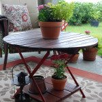 outdoor table makeover