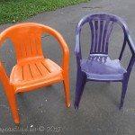 spray paint plastic chairs