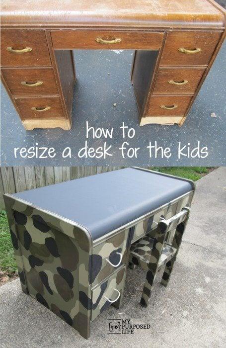 Repurposed Desk Project Ideas My Repurposed Life Rescue Re Imagine Repeat