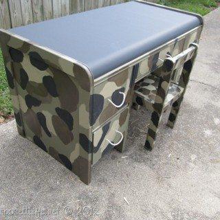 Kids Camouflage Desk Ideas
