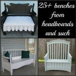 My Repurposed Life--25 benches from headboards and such