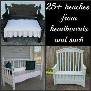 headboard bench ideas  25+ projects