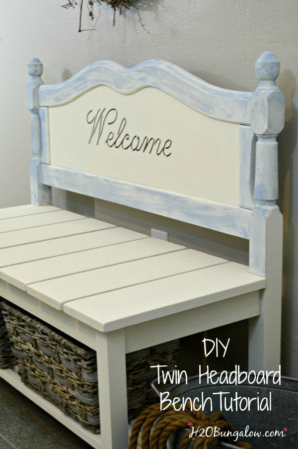 50 headboard bench ideas - My Repurposed Life®