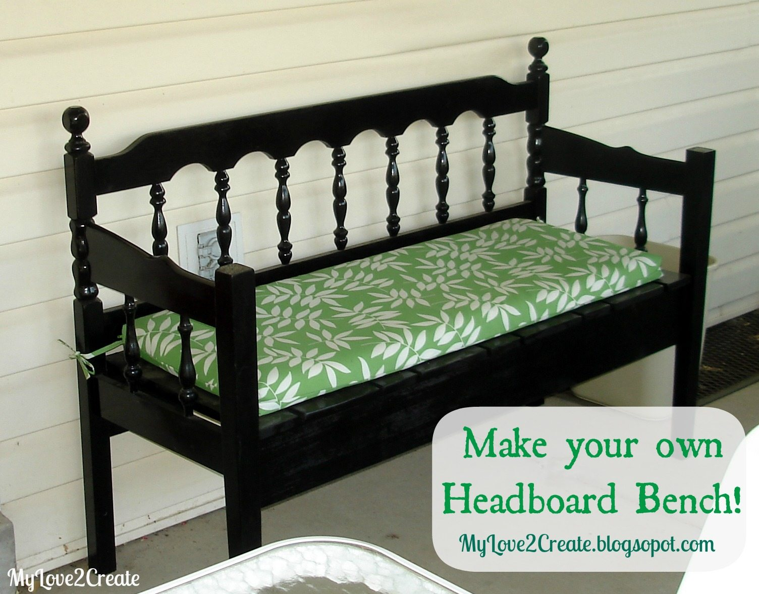 Headboard bench, MyLove2Create