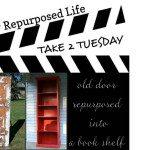 My Repurposed Life-red door shelf