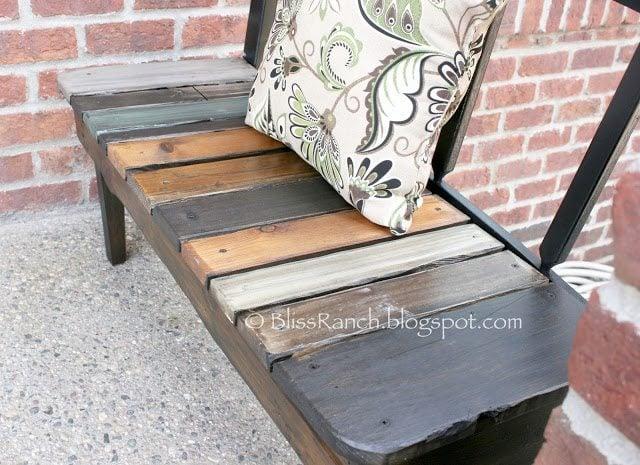 rustic headboard bench