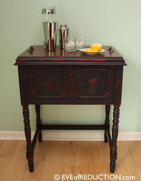 Sewing cabinet bar my repurposed life - Four ways to repurpose an old sewing machine ...